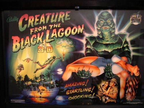 Creature from the Black Lagoon Pinball Backglass Picture