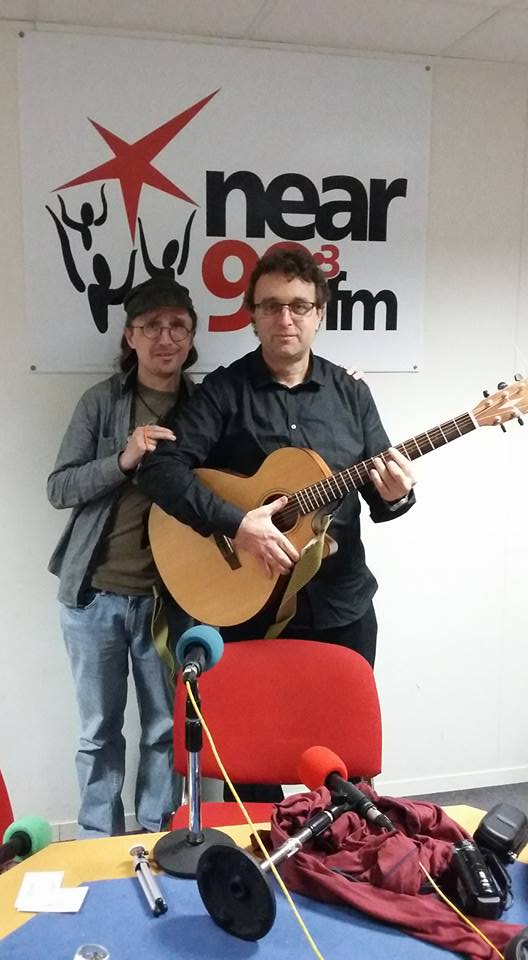 Vic Stathopoulos with Noel at Near Fm Sessions